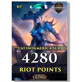 4280 Rp Riot Points League Of Legends Lol Latinoamerica Sur