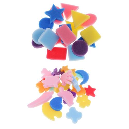 42x sello de espuma de esponja brocha de pintura