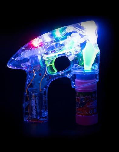 [43 piezas] pistola de burbujas con luces led.