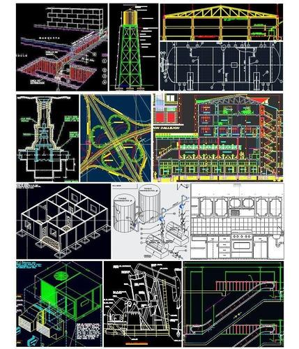 4300 planos y librerías de autocad arquitectura ingenieria