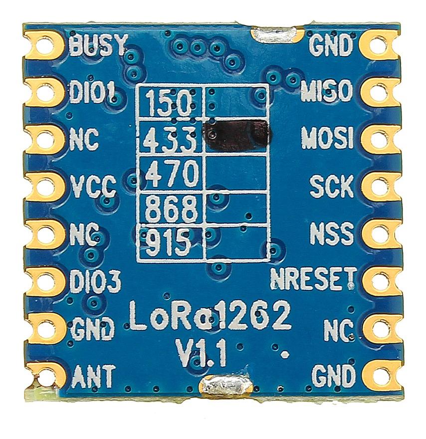 433mhz Lora1262 Sx1262 Lora Módulo Rf 22dbm 160mw 1 5ppm Tcx