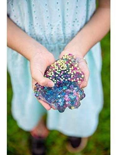Foil Flakes Smiley Faces Pearls Stars 44Town Slime Supplies Kit Glitter 60 Pack Slime Charm Accessories Flower Slices Fishbowl Beads Hearts Colorful Rainbow Foam Beads