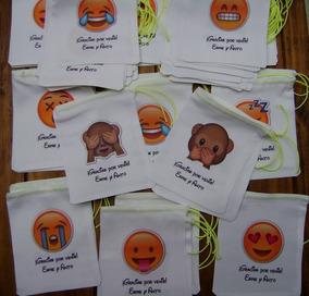 Golosineras Souvenir Bolsitas Personaliz Emoticones Emoji 45 CBdeWoxr