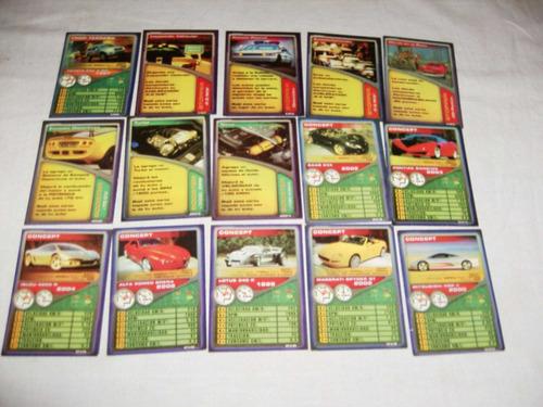 45 cartas super cards autos algunas se repiten....