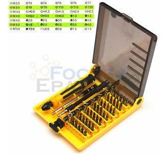45 en 1 multi-bit herramientas de reparacion kit set destorn