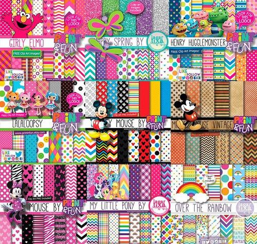 45 kits scrapbook digital lagartixa (01) temas diversos