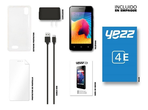 45$ telefono android economic yezz 4e7 sim dual 8gb+ 1gb ram