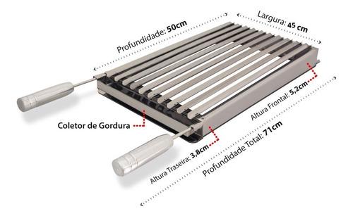 45 x 50 cm grelha churrasco parrilha argentina premium