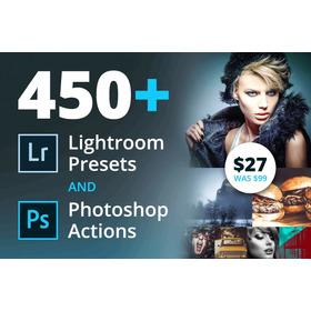 450+ Lightroom Presets & Photoshop Actions Fotografía