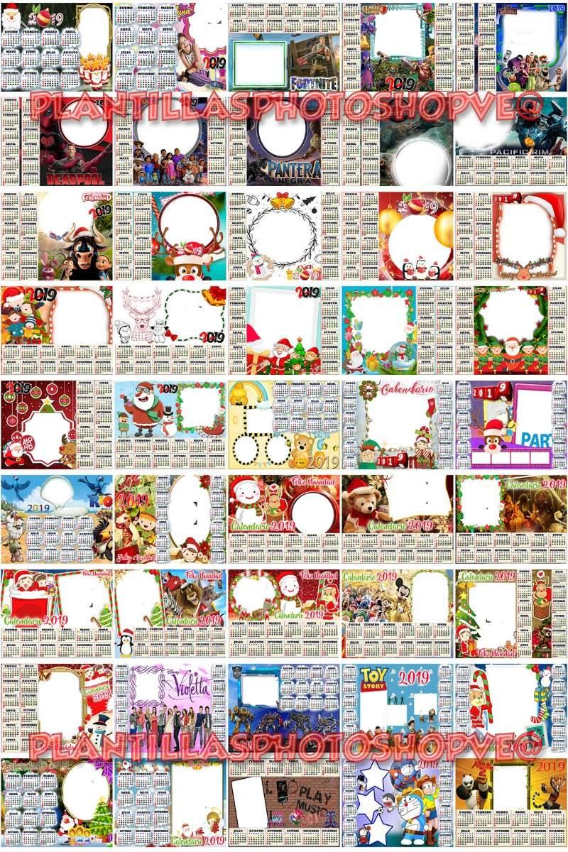 450 Plantillas Almanaques 2019 Png 100 Plantillas Navidad 199