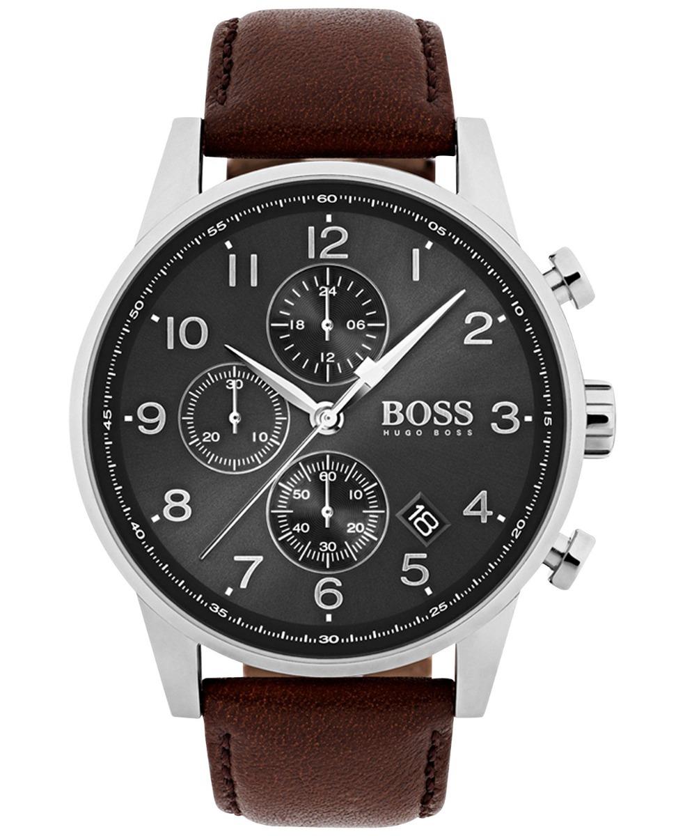 4751a3a86f11  4500 reloj hugo boss navigator cronografo piel cafe 1513494. Cargando zoom.