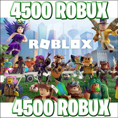 4500 robux - roblox @ entrega inmediata
