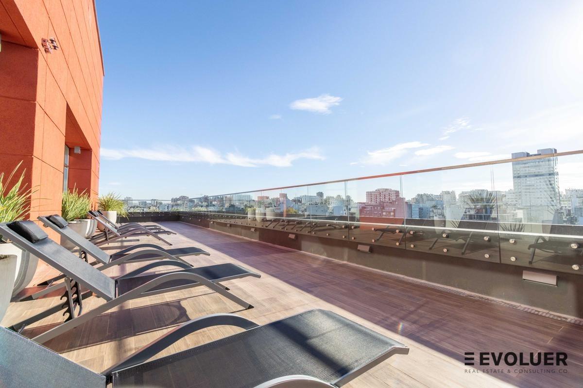 45m2 a estrenar. balcón con vista a la piscina en quartier dorrego, palermo hollywood
