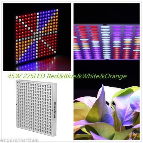 45w led hidromasaje crece la luz iluminación espectro comple