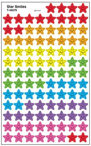 46079 estrella feliz 800 etiquetas autoadheribles de trend