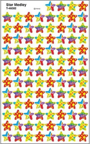 46082 estrella color 800 etiquetas autoadheribles de trend