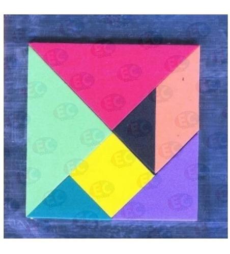 46118 pizarra de arte tangram 27x18 cm material didáctico