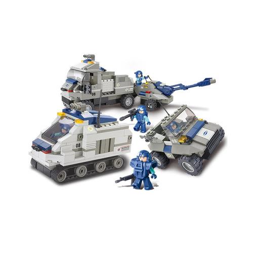 467pcs sluban m38-b0208 fuerzas especiales blindado
