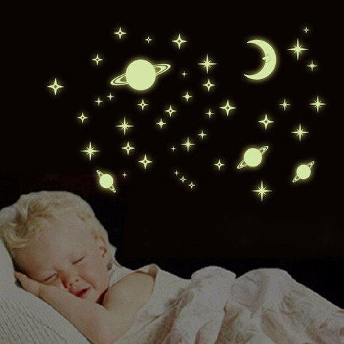 47 imagens adesivos fluorescentes teto saturno lua estrelas