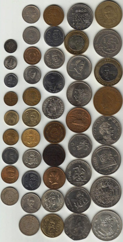 47 monedas antiguas mexicanas hermosas, por lote!!! op4