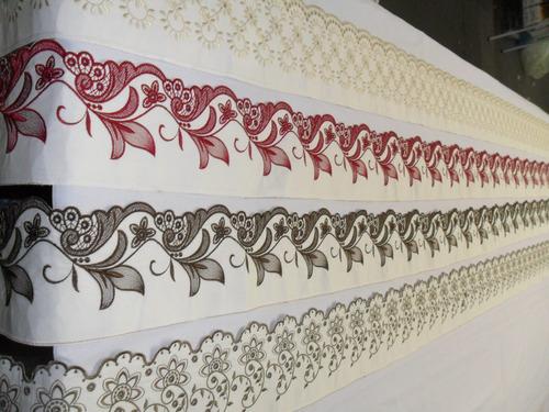 4,70 metros barrado richilieu p/ lençol banho cortina toalha