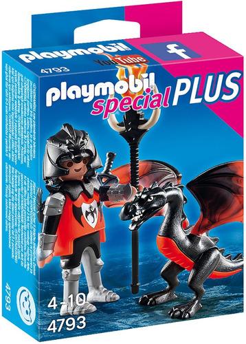 4793 playmobil - special plus - cavaleiro com dragão