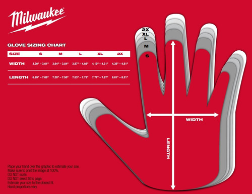 48-22-8713 guante milwaukee de trabajo free flex talle xl