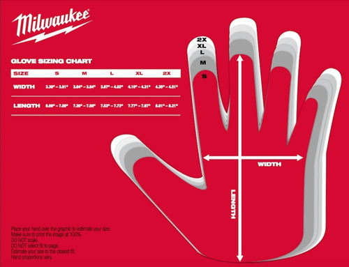 48-22-8900 guante de trabajo anti corte nivel 1 milwaukee s