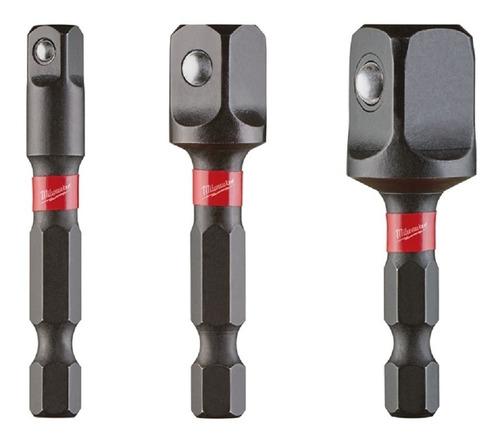 48-32-5033 adaptador hex 1/4 cuadrado 1/4 3/8 1/2 milwaukee