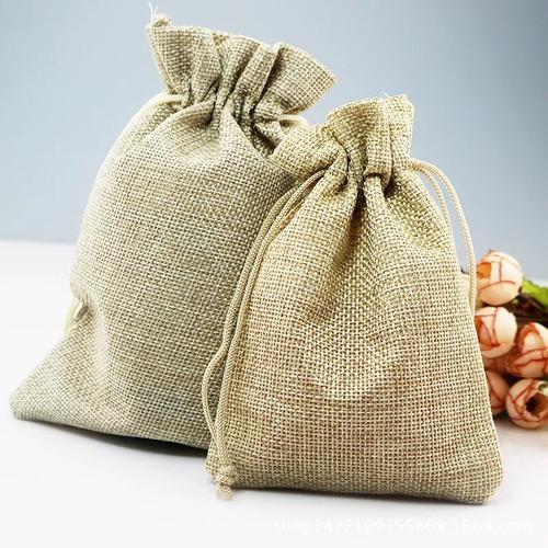 48 bolsas tela yute arpillera 13x18cm