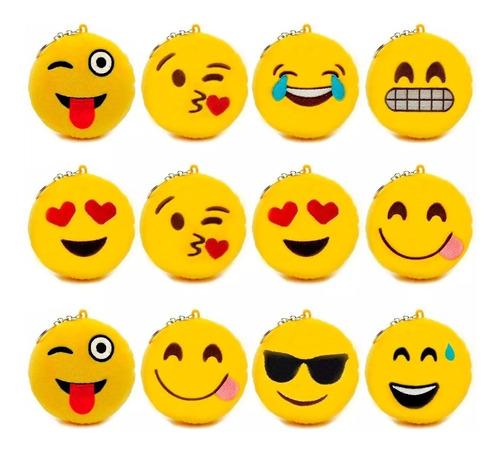 48 chaveiros emoji emoticon pelucia whatsapp atacado revenda