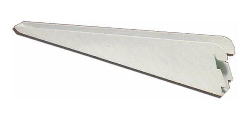 48 mensula 27 cm reforzada y 10 riel 1.50 mts blanco 0219