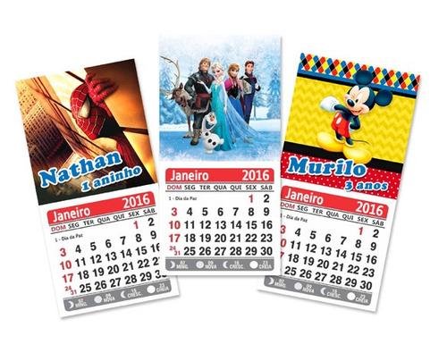 48 mini calendários personalizado ímã geladeira jan/dez 2018