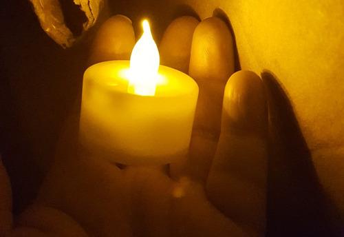 48 vela luz led ambar amarillo con baterías boda decoración