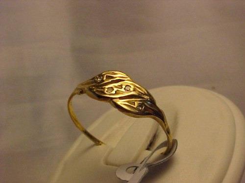 #492a - anel em ouro 18k  com 4 diamantes
