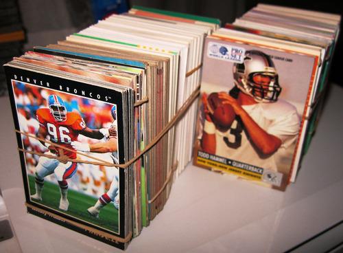 495 tarjetas de football americano del 88 a 93 varias marcas