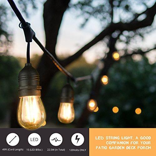 49ft led outdoor string lights globo comercial lights con 1 49ft led outdoor string lights globo comercial lights con 1 aloadofball Choice Image