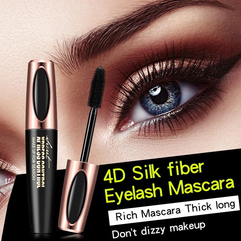 4d Seda Fibra Pestana Mascara Extension Maquillaje Negro I - Maquillaje-negro