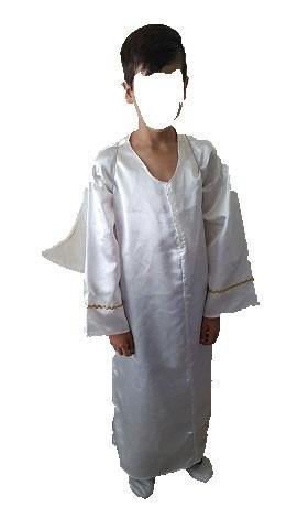 4jgos tunica angel alas disfraz hombre o niño posada navidad