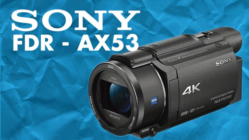 4k filmadora  sony fdrax53  4k microfono + estuche + tripode