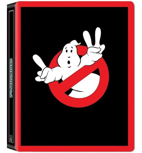 4k uhd + blu-ray ghostbusters cazafantasmas 1 & 2 steelbook