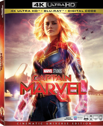 4k ultra hd + blu-ray captain marvel / capitana marvel