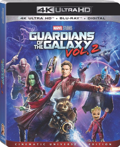 4k ultra hd + blu-ray guardianes de la galaxia vol 2