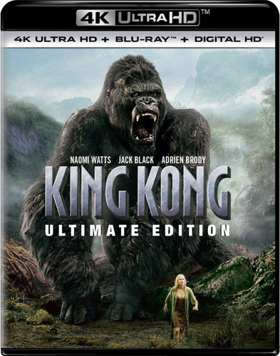 4k ultra hd + blu-ray king kong (2005) version extendida