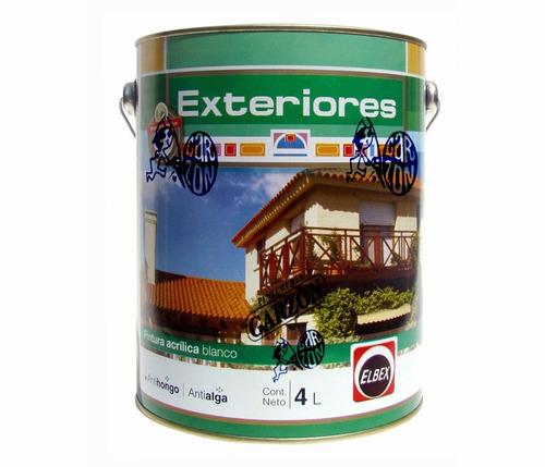 4l pintura elbex latex exterior antihongos superlavable!