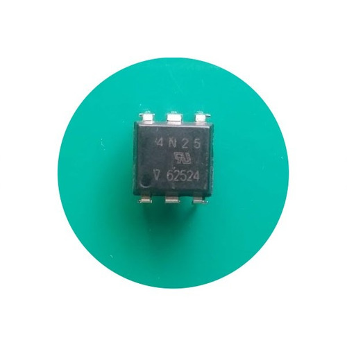 4n25 ( kit c/ 60 ) ci integrado vishay dip-6 optoacoplador