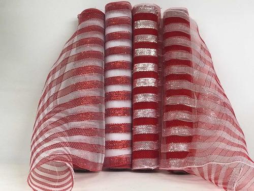 4pack malla decorativa navideña, árbol navidad guirnalda