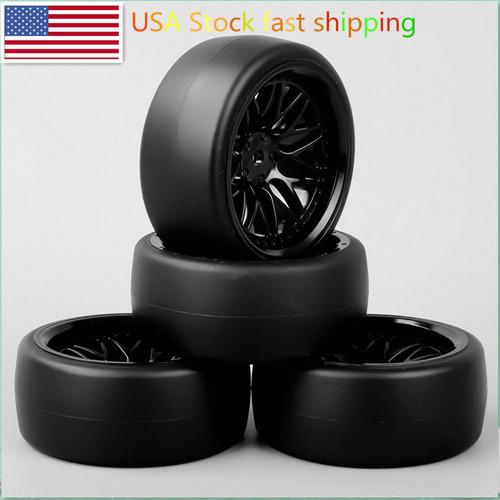 4pcs 1:10 rc modelo deriva en carretera coche neumáticos