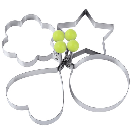 4pcs acero inoxidable huevos anillo moldes de la flor del co