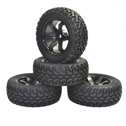 4pcs rc coche de rally llantas de goma grano y ruedas de